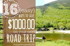 16 {Easy} Ways to Save $1000 On Your Next Road Trip - love that she uses a family of five for these calculations! #familytravel
