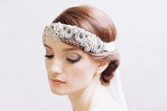 BELLE DE JOUR JEWELED BRIDAL FOREHEAD BAND   Erica Elizabeth Designs and Pretty Things Wedding Accessories