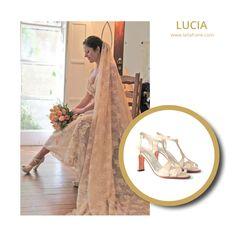 LUCIA. #LailaFrank #shoes #design  #party #Bride #Bridal #Wedding #novia #boda #casamiento #zapato #tacos #elegant #style #Love