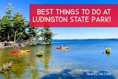 Best Things to do at Ludington State Park: Hiking, Camping and Kayaking! . Awesome Ludington State Park Canoe Trail . Rent Kayaks or Watercraft at Ludington State Park. Check out the beach! . Best State Park in Michigan, perfect for kayaking, camping, bird watching, hiking and sight seeing! . . #ludingtonmichigan #ludingtonmichiganthingstodo #ludingtonstatepark #ludington #ludingtonstateparkmichigan #ludingtonmi #michiganstateparks Ludington Michigan, Ludington State Park, Michigan State Parks, Michigan Travel, Things To Do, Good Things, Kayaks, Water Crafts, Go Camping