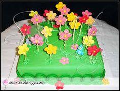 Resultado de imagem para bolo jardim