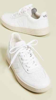 Veja Lace Up Sneakers Veja Sneakers, Sneakers Mode, White Sneakers, Shoes Sneakers, Women's Shoes, Tods Shoes, Retro Sneakers, Fall Shoes, Shoes Men