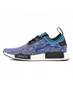 Adidas NMD R1 Primeknit Camo Pack Brilliantly Coloured Blue S81541