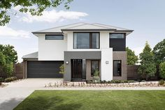 Available on the Palace: Kingston facade representative of the Sahara Exterior Siding Colors, Exterior Design, Townhouse Designs, Bathroom Images, Europe, Display Homes, New Home Designs, Facade House, Open Plan Living