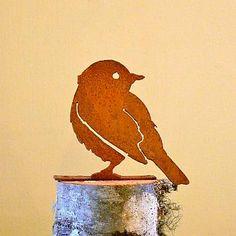 Elegant Garden Design Bird Silhouettes, Beautiful Handcrafted Metal Art, Rusty Metal Bird Silhouettes at Songbird Garden Metal Birds, Glass Birds, Metal Garden Art, Metal Art, Wooden Bird Feeders, Outdoor Wall Art, Bird Silhouette, Rusty Metal, Rustic Art