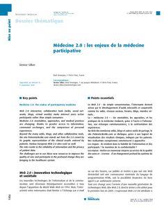 mdecine-20-enjeux-de-la-mdecine-participative by Denise Silber via Slideshare