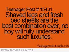 funny quote shaved legs fresh sheets best combination ever
