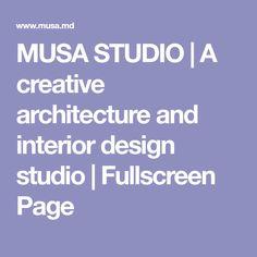 MUSA STUDIO | A creative architecture and interior design studio | Fullscreen Page