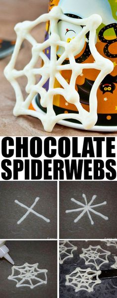 Quick and easy CHOCOLATE SPIDER WEB CUPCAKES for Halloween parties. You just need melted chocolate for these easy Halloween cupcakes. From halloween cupcake spiderweb 722687071440103830 Halloween Cocktails, Dulceros Halloween, Halloween Food For Party, Halloween Birthday, Holidays Halloween, Halloween Season, Halloween Cupcakes Decoration, Halloween Cupcakes Easy, Halloween Cookies