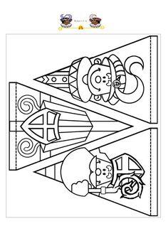 slingers stefan cent - Apocalypse Now And Then Christmas Activities, Kids Christmas, St Nicholas Day, Winter Kids, Kids Prints, Digi Stamps, Colouring Pages, Diy For Kids, Saints