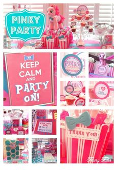 Ideas for hosting a #PinkiePie inspired birthday party.  www.flairytales.com