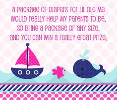Diaper Raffle. Bring more diapers, get more tickets!