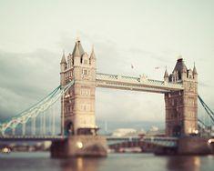 London Tower Bridge London Photography by EyePoetryPhotography (Art & Collectibles, Photography, Color, London Print, British Decor, Wall Art, London Art, London Photography, Signed Print, Mint Green, Thames River, London Landmark, Uk Travel Photo, England, Art Print)