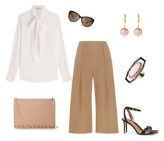 """""""Office Chic"""" by stylebyjonathan ❤ liked on Polyvore featuring N°21, Tory Burch, Etro, Valentino, Aurélie Bidermann and culottes"""