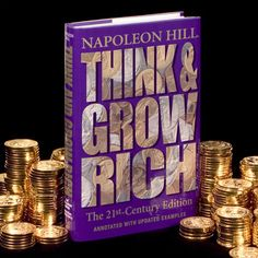 The Best Think and Grow Rich Quotes Think And Grow Rich, How To Get Rich, Rich Quotes, Personal Development Books, Work From Home Opportunities, Napoleon Hill, Inspirational Books, Law Of Attraction, Audio Books