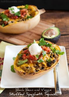 Black Bean and Veggie Stuffed Spaghetti Squash recipe ( a delicious and healthy grain free main dish)