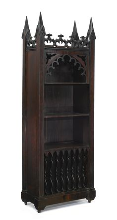Pinterest: @MagicAndCats ☾ A Gothic Revival Carved Rosewood Music Cabinet, New York, circa 1860-1880