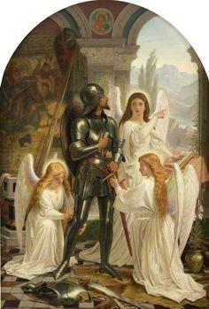 Arming Christian for the Fight (from 'The Pilgrim's Progress' by John Bunyan)  Joseph Noel Paton (1821–1901)