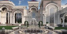 come and design your villa or building or hotel or interior decor or exterior design with us we have fantastic architectural designs and plans and we will make your dream We are professional in our work and our prices are very competitive Classic House Exterior, Classic House Design, Dream House Exterior, Dream Home Design, Mansion Homes, Dream Mansion, Mansion Interior, Villa Design, Luxury Homes Dream Houses