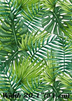 Palms watercolor wallpaper /Palms removable by FloralBotiqueWall