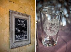 pint glass wedding favor - first time we hung out was at pint night at frog and peach
