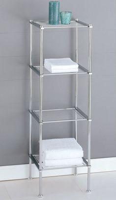 Bathroom Storage Organizer Toilet Caddy Cabinet Towel Rack Shelf Space Saver #OIA