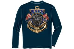Navy The Sea is ours Long Sleeve T-Shirt from Mustang Loot
