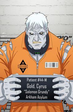 Cyrus Gold locked up by phil-cho on DeviantArt Memes Marvel, Marvel Dc Comics, Justice League Villain, Minions, Solomon Grundy, Comic Villains, Mundo Comic, Batman Universe, Dc Universe