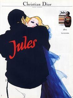 Christian Dior (Perfumes) 1984 Jules for Man René Gruau