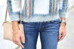 Stella McCartney tartan sweater and Celine trio