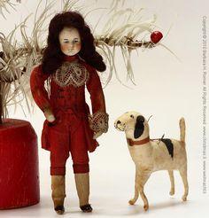 victorian antique spun cotton christmas ornaments - Google Search