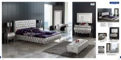 Bedroom  Furniture Modern  Bedrooms 623 Lorena, M95, C95. B5, E95, B7