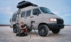 Dude turns grandma's 1994 Dodge Ram van into a badass road tripping machine! - Posted on Roadtrippers.com!