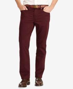 Polo Ralph Lauren Men's Prospect Slim-Straight Sateen Pants - Autumn Wine 36x29