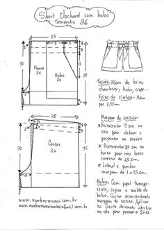 Best 11 Brilliant Photo of Shorts Sewing Pattern – SkillOfKing. Sewing Shorts, Sewing Clothes, Diy Clothes, Dress Sewing Patterns, Clothing Patterns, Schneider, Pattern Drafting, Pants Pattern, Free Sewing