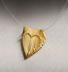 Collier coeur or bijoux de mariée bijoux cinétique or par eninaj