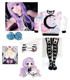"""pastel goth"" by itsgracie18 ❤ liked on Polyvore"