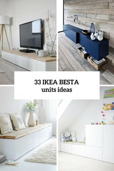 IKEA Besta is a whole storage collection in various configurations that must be secured to the wall. The drawers and doors close silently and softly, thanks to the integrated soft-closing function. The simplicity of these drawers allows combining and decorating them as you like and creating your own constructions where you need. Besta can be...