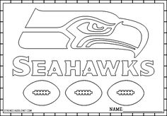 Seattle Seahawks Logo coloring fun for the kids!