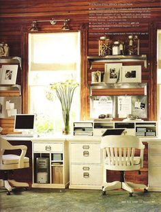 Cabin Chic Office