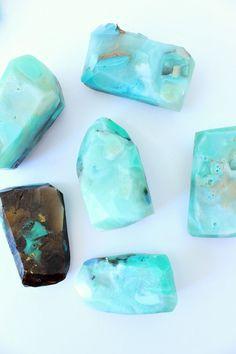 DIY Gemstone Soap Tutorial | How to Make Easy Gem   Mineral Shaped Soap Rocks