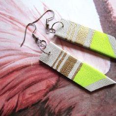 Paint pen Fabric earrings