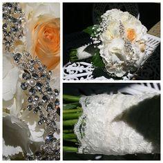 gyönyörű menyasszonyi csokor csipkével és brossal - Beautiful bridal bouquet with brooch and lace Wedding, Beautiful, Valentines Day Weddings, Weddings, Mariage, Marriage, Chartreuse Wedding