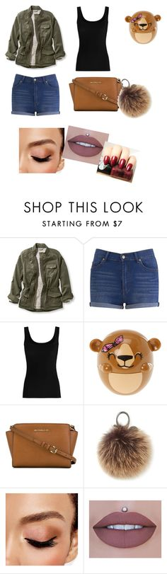 """Aj lajk it"" by nicolettaporg ❤ liked on Polyvore featuring L.L.Bean, Cheap Monday, Twenty, claire's, MICHAEL Michael Kors, Rebecca Minkoff, Avon and plus size clothing"