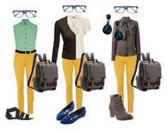 """Preppy Girl - Wearing the yellow pants"" by julianne-lalonde ❤ liked on Polyvore featuring Barbour, rag & bone, Bulgari, Plein Sud and Doublju"