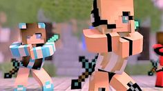 Psycho Girl 1-4 The Complete Minecraft Music Video Series - Minecraft So...