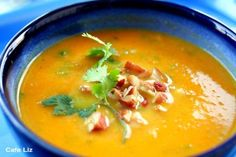Cafe Liz » Carrot pumpkin soup with ginger and cilantro » the kosher ...