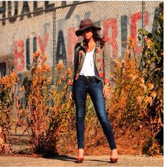 ::fall hat:: DVF conductor jacket/ Wilfred white T/ frame denim LA/ Christian Louboutin leather pumps