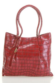 B-Collective by Buxton Shannon Tote In Burgundy