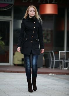 New Design Black Casual Cashmere Women Coat by Sophiaclothing, $129.99